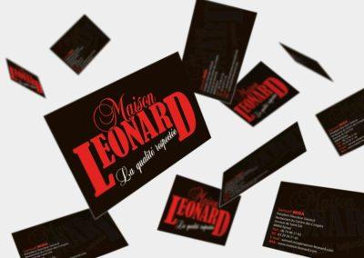 Carte de visite – Maison Leonard