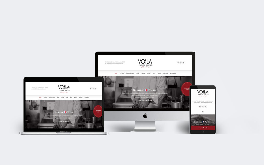 Site web – Voila French Bistro